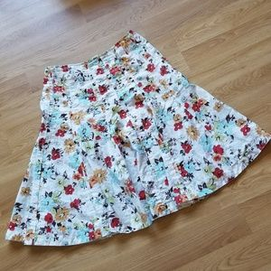 CAbi Style #475 Palapa Full Floral Flair Skirt 8